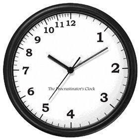 Die Prokrastinations-Uhr. (via @sechsdreinuller auf Twitter).