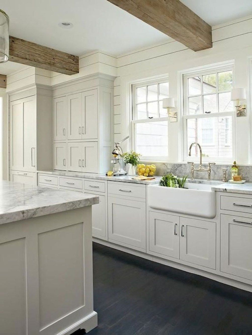 white kitchens with light floors 35 The Best White Kitchen Cabinet Design Ideas To Improve
