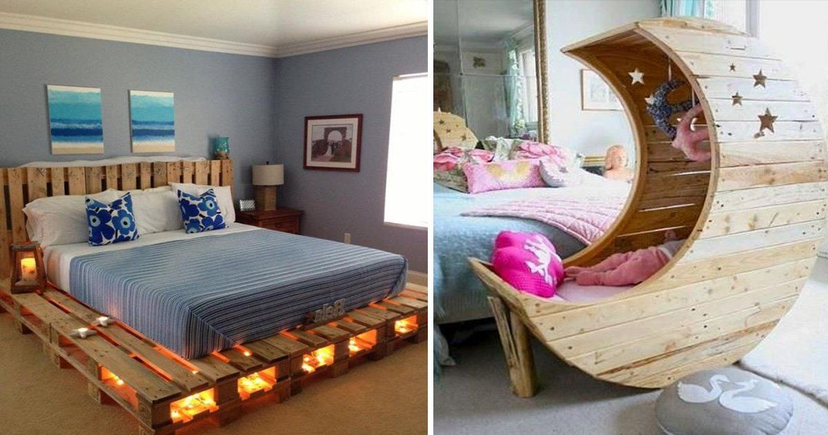 16 Wooden Pallet Bed Frame Ideas To Make Your Bedroom Stylish On A