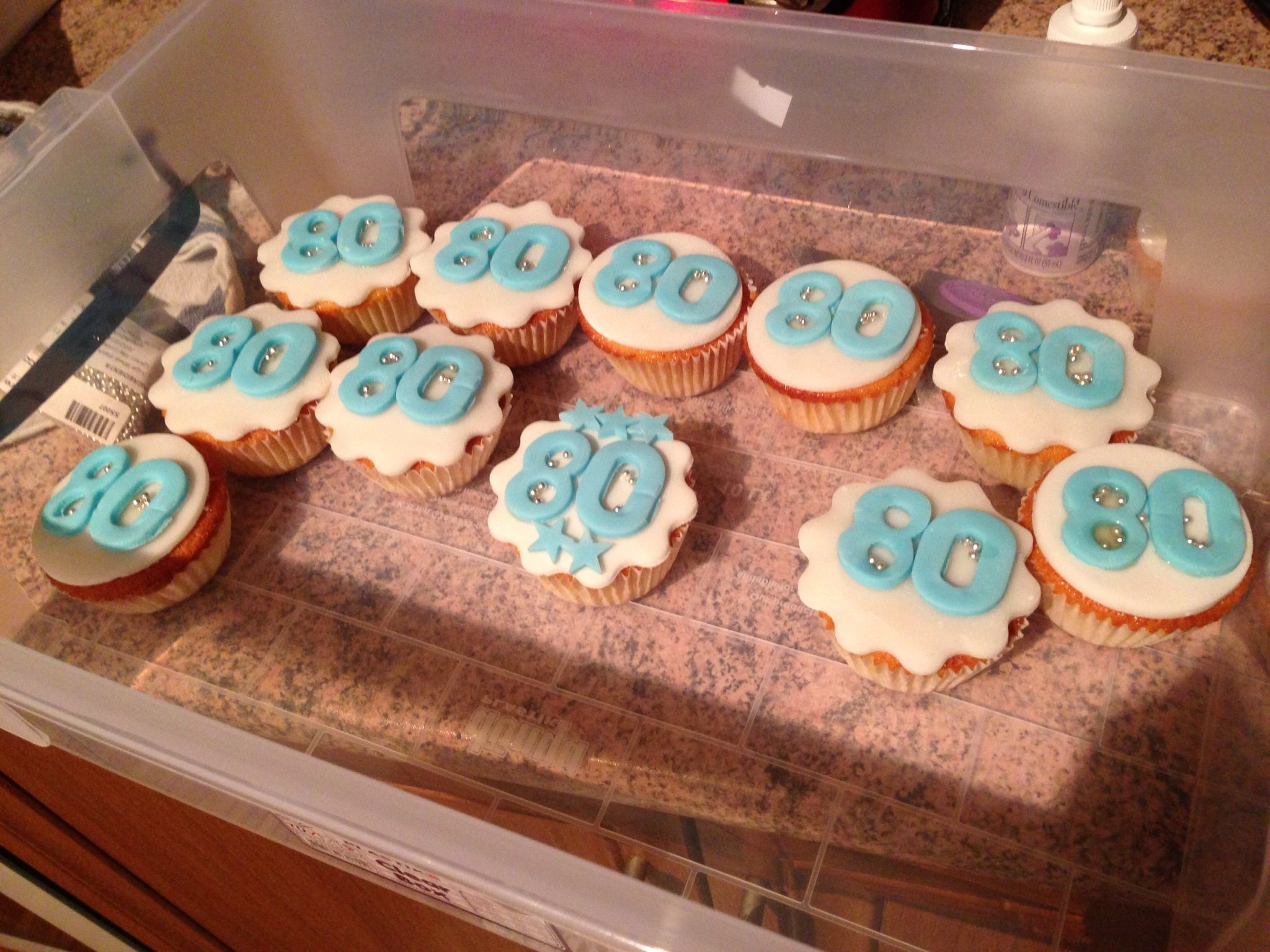 Birthday Cupcakes For An 80 Year Old