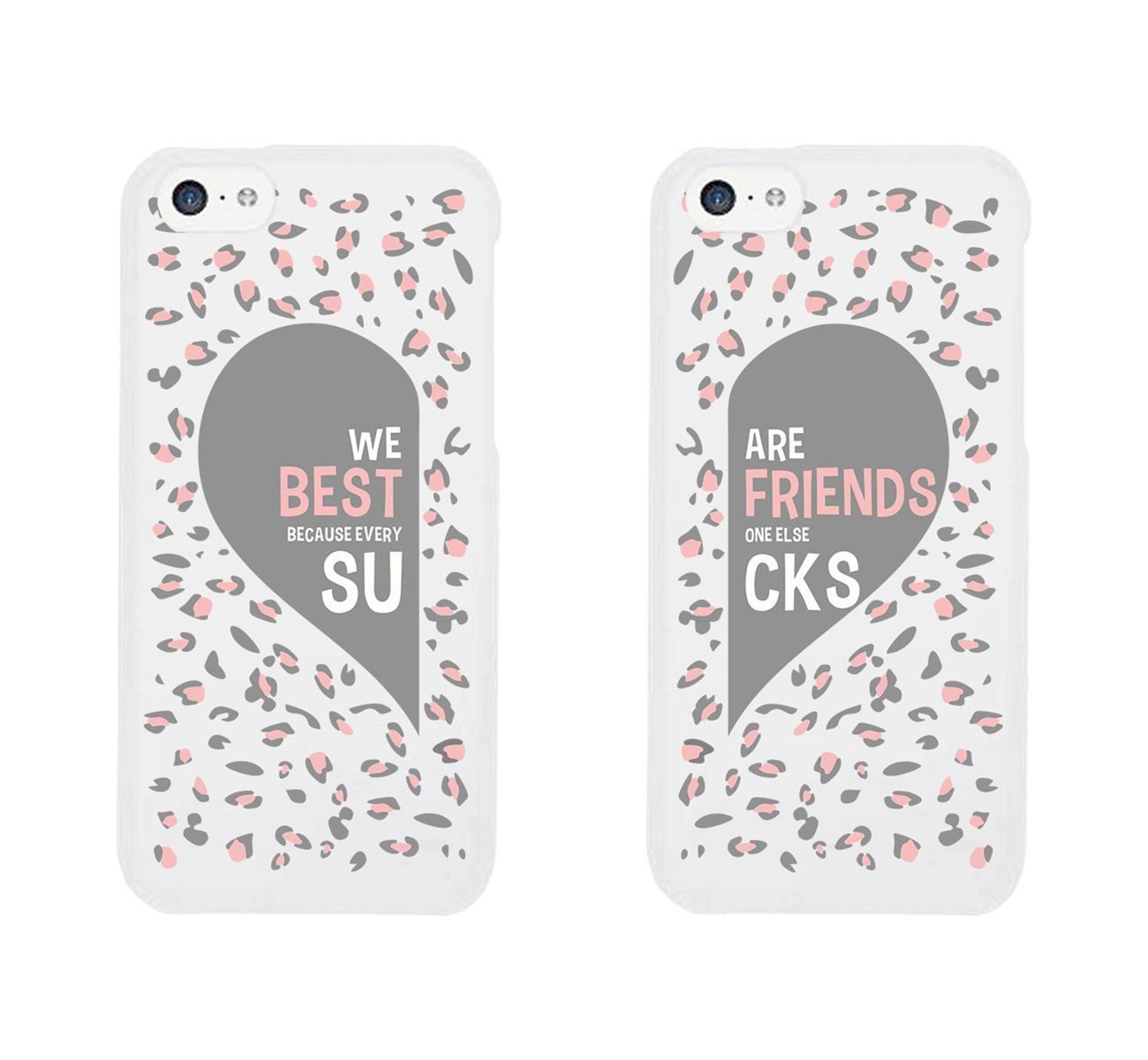online retailer 1ec32 745ed Best Friend Phone Cases - Cute Leopard Print Phone Covers for iphone ...