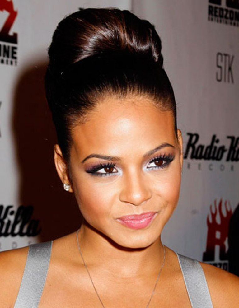 High Bun Hairstyle African American | Hair Color Ideas and Styles ...