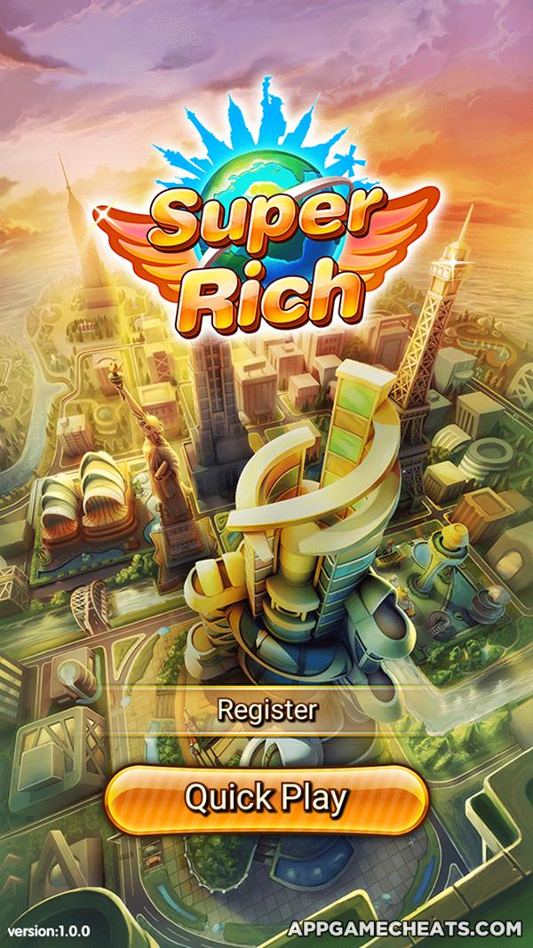 Super Rich 2016 Hack & Cheats for Cash, Silver & Gold