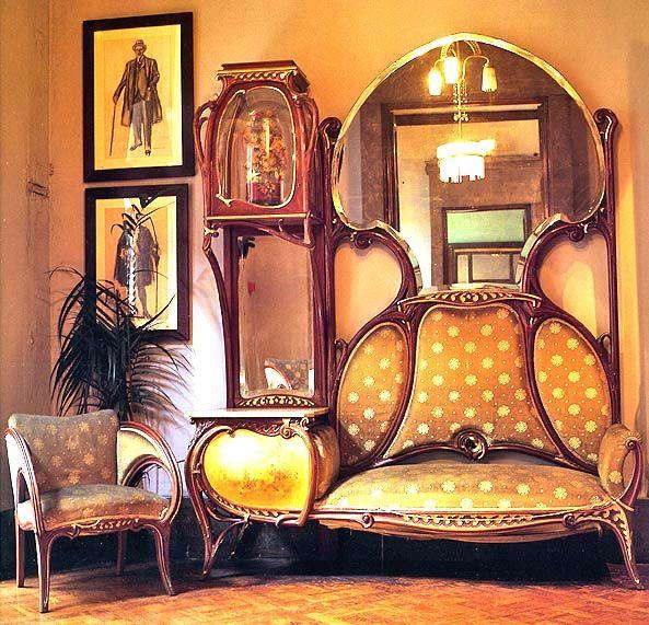 Art Nouveau Art Nouveau French Pronunciation Aʁ Nuvo Anglicised To ˈɑrt Nuːˈvoʊ Is An Inte Art Nouveau Interior Art Nouveau Furniture Art Nouveau Decor