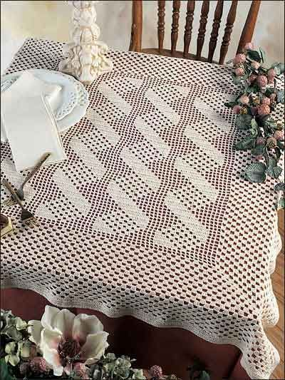 Crochet This Easy Tablecloth For A Nice Table Setting Finished Size