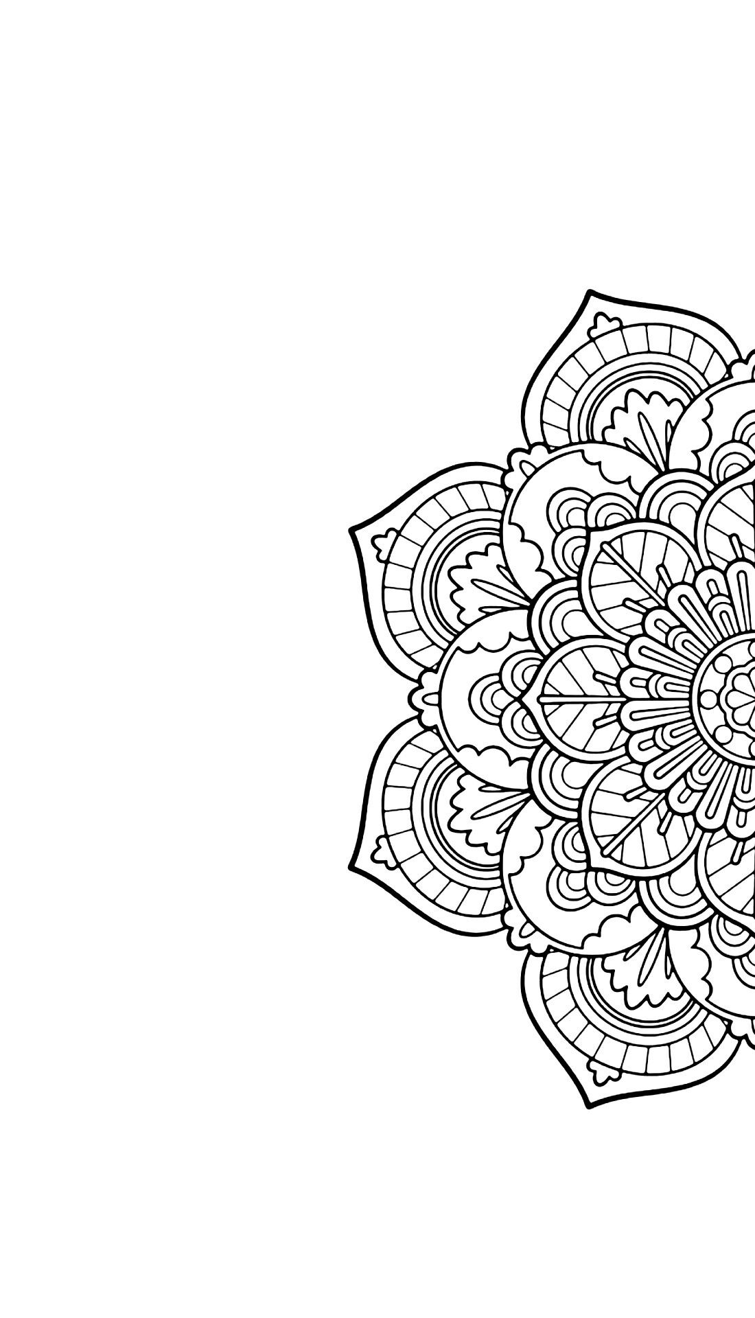 Mandala Phone Wallpaper Black And White Art Sfondi Sfondi Per