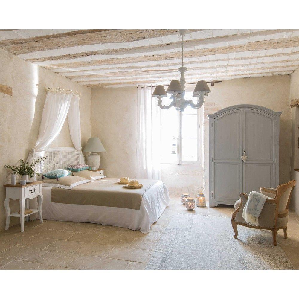 Parure de lit 220 x 240 cm en coton beige   Maison du monde, Parure ...
