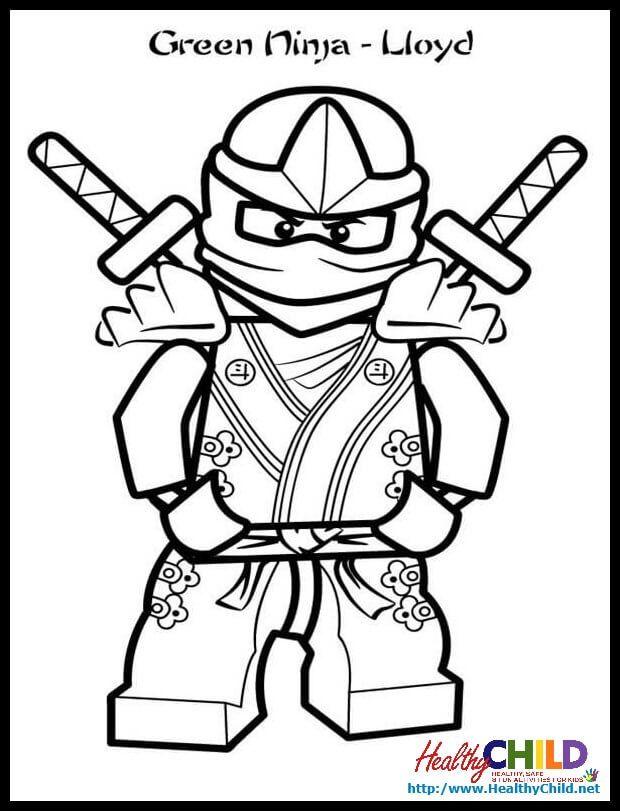 Ninjago Lloyd Zx Lego Ninjago Coloring Pages Lego Ninjago Coloring