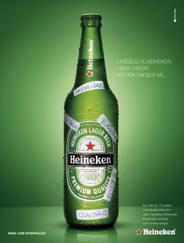Heineken - Chegou a Heineken para dividir, agora em 600ml - 2007 #Advert