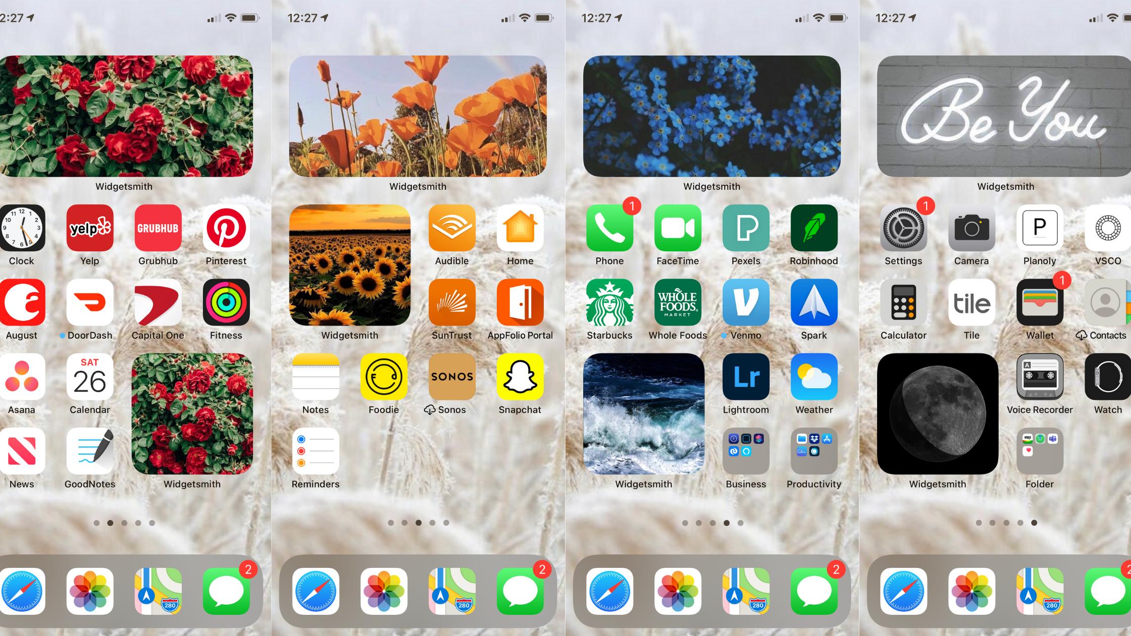 Ios14 Home Screen Setup Customize Your Iphone Aesthetic Rainbow Theme Homescreen Iphone Homescreen Iphone Organization