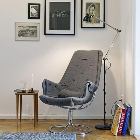 rincn d electura moderno silln gris via miblog - Sillon Lectura