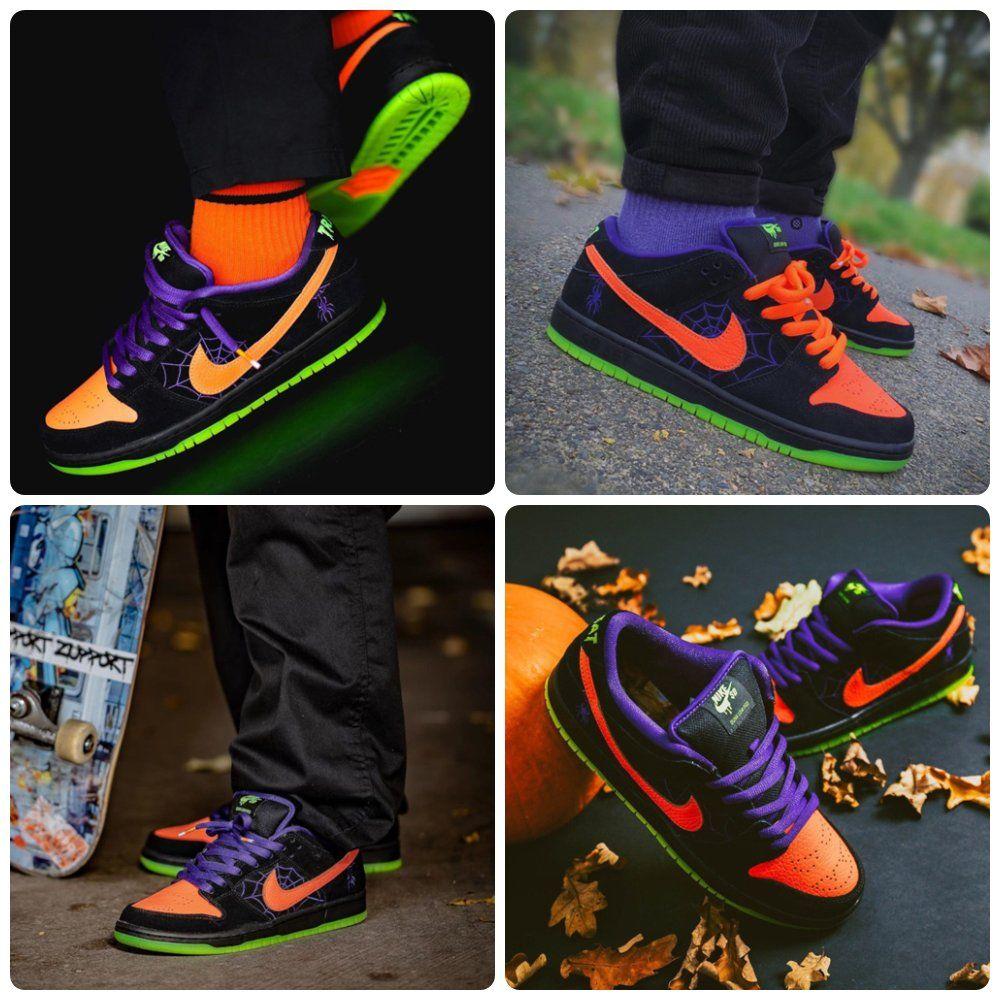 2019 Nike Sb Dunk Low Night Of Mischief Halloween Nike Dunks Nike Sb Dunks Nike