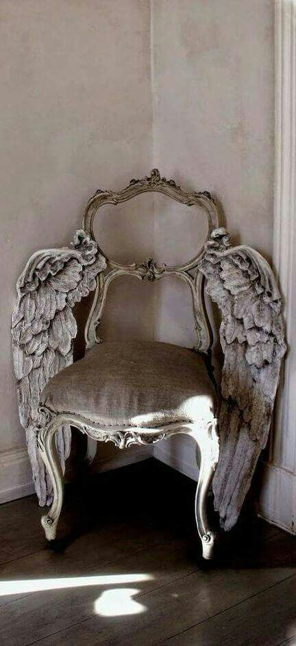 Vintage Angelic Wings Chair Goth Home Decor Pinterest Vintage House And Shabby