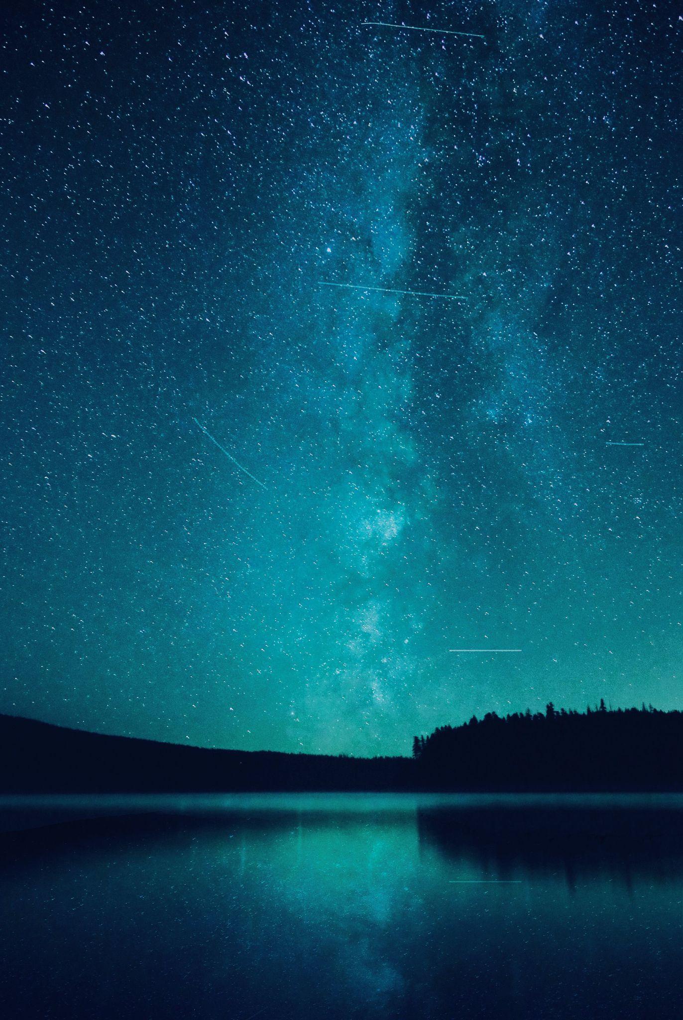 Under The Stars Beautiful Night Sky Landscape Night Skies