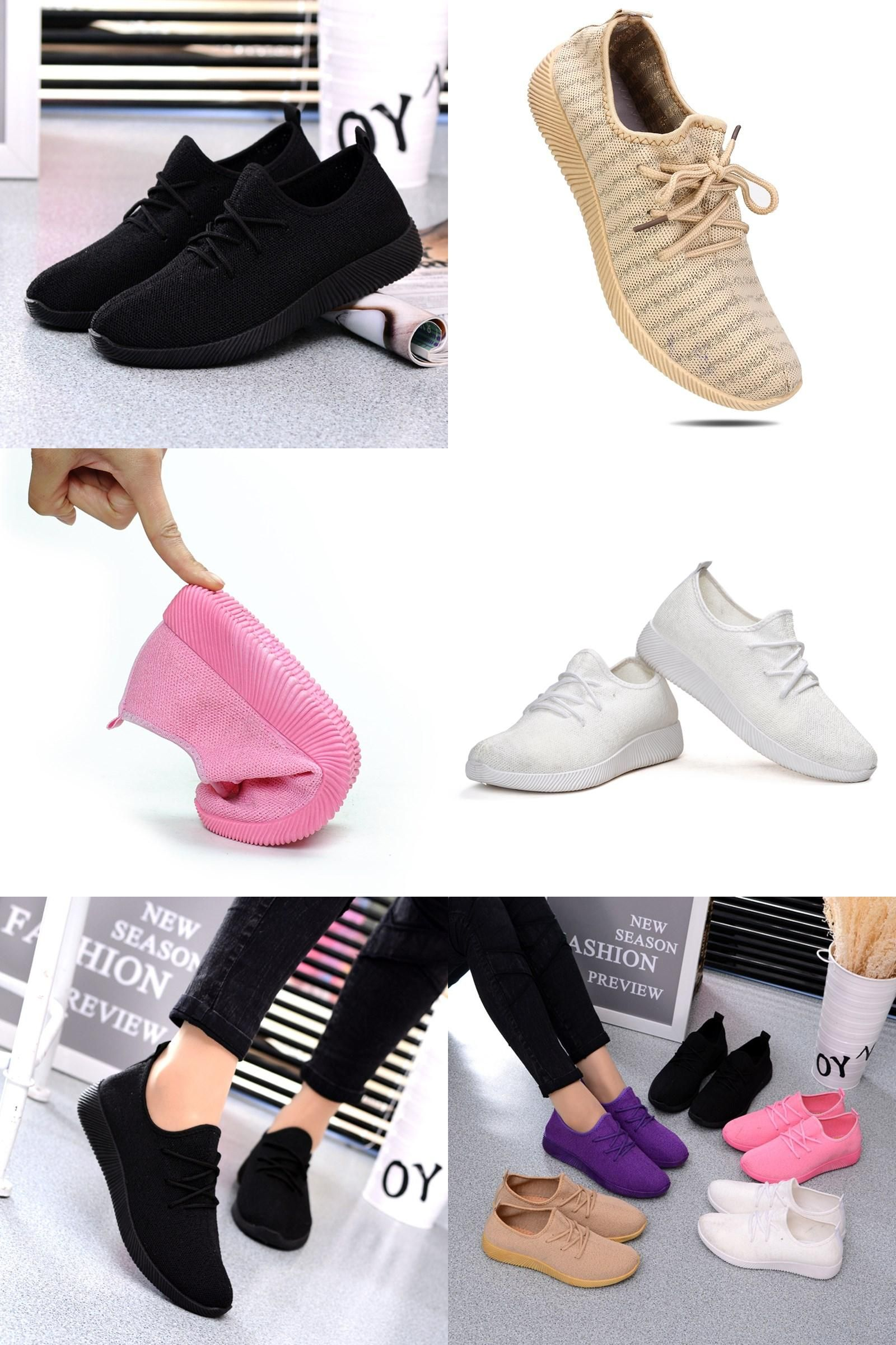 Women Running Fitness Sports Mesh Casual Breathable High Heels Shoes Slimming