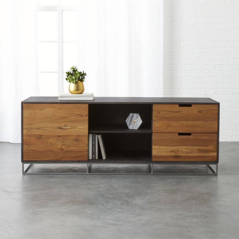 congo large media credenza | Wood structure, Credenza and Dark wood