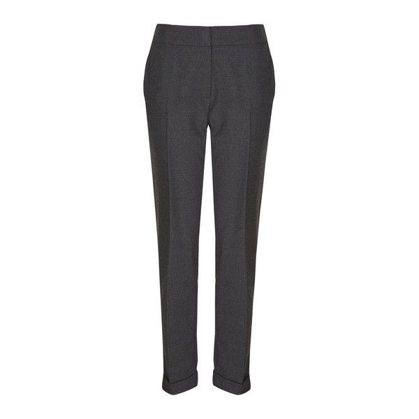 Grey Pull-On Jogger Trousers ❤ liked on Polyvore featuring pants, gray trousers, grey trousers, gray pants, grey jogger pants and jogging trousers