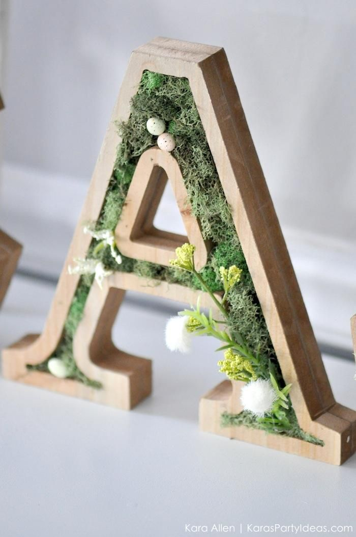 Diy moss wooden easter letters for your home via karas party ideas diy moss wooden easter letters for your home via karas party ideas michaelsmakers woodworking spiritdancerdesigns Images