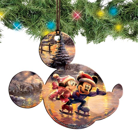 Mickey And Minnie Mouse Shaped Hanging Christmas Decoration Collections Etc In 2020 Christmas Hanging Decorations Disney Christmas Ornaments Christmas Decorations