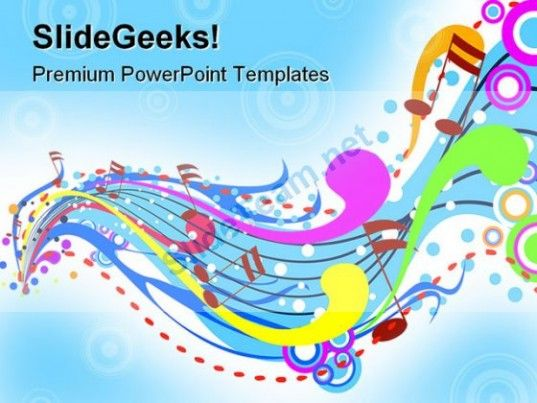 Music Wave Abstract Powerpoint Template 0910 Powerpoint Templates