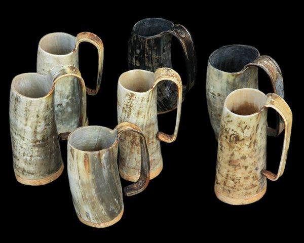"horn beer mugs from the jelling dragon "" as seen on game of"