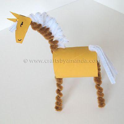 Cardboard Tube Horse: The Farm Series - Crafts by Amanda