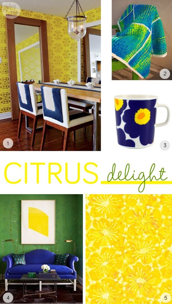 Yellow, green and blue color palette and moodboard inspired by a very summery color palette #moodboard #yellow #blue #green #summercolors #colorpalette #colorscheme #marimekko #inspiration #interiors