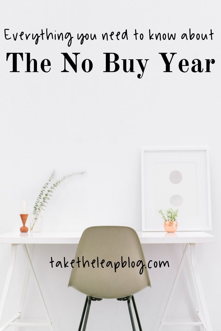 My 2018 New Years Resolution was to buy nothing but the essentials. Learn how to survive the No Buy Year. #nobuyyear #newyears #resolution #minimalism