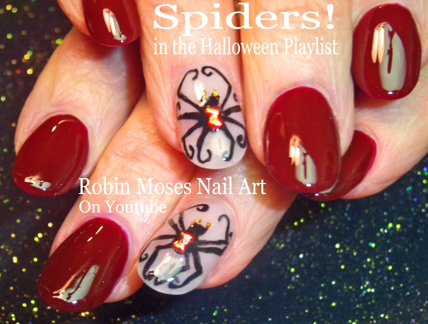 Black Widow Nail Art for Halloween!! #blackwidow #spider # #fun #cute #halloweennails #nailart #nails #art #nail #design #tutorial #animal #diy #polish #halloween #easy #simple #trendy