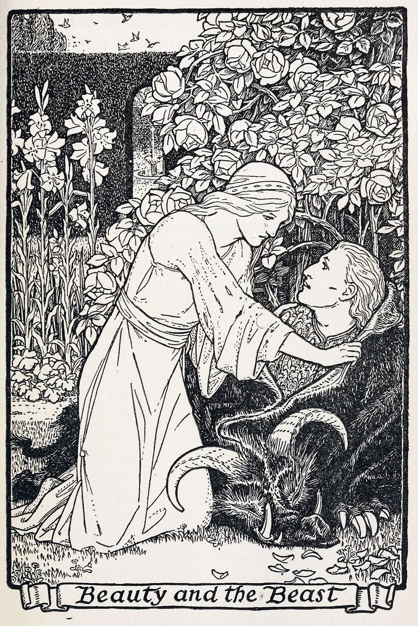 Illustration by John D. Batten to The master-maid. From Europa's fairy book, restored and retold by Joseph Jacobs, London and New York, 1916.