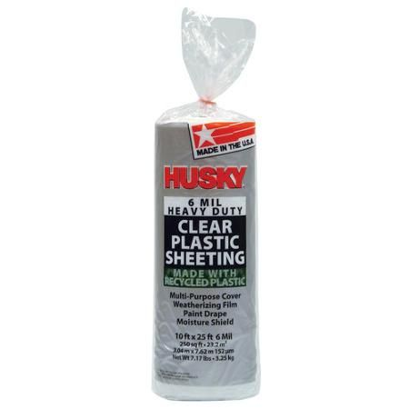 Husky 6 Mil Heavy Duty Clear Plastic Sheeting Walmart Com Clear Plastic Sheets Plastic Sheets Plastic