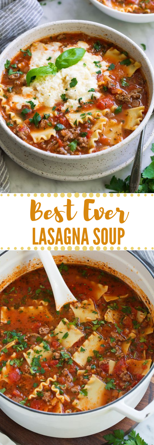 Lasagna Soup #lasagna #healthy #dinner #spaghetti #salad
