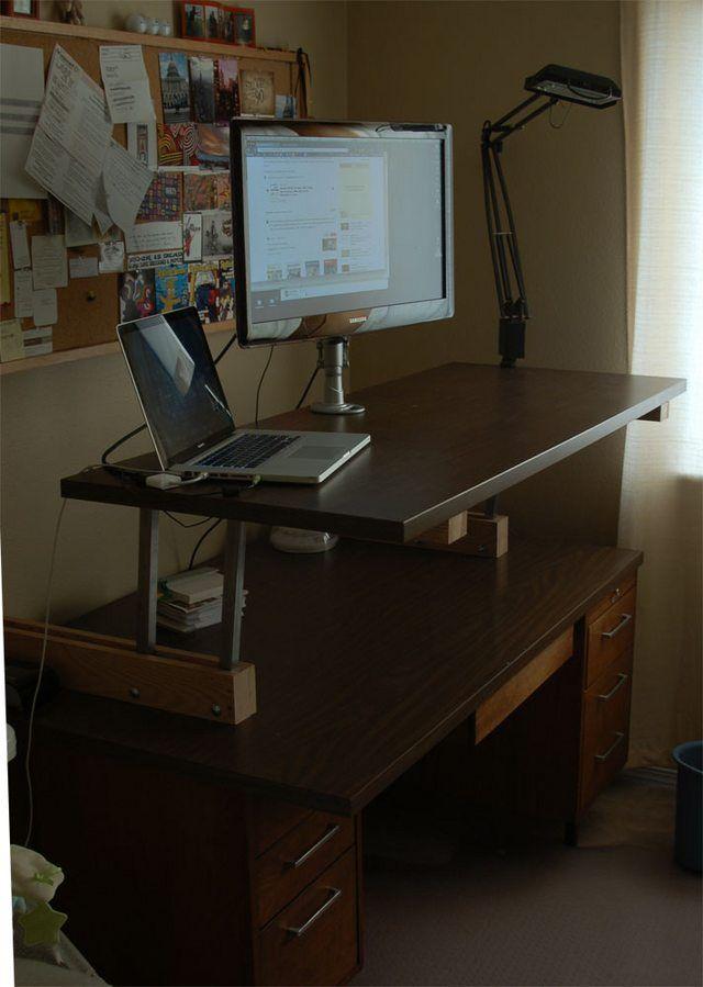Thought Reddit Might Enjoy My Diy Convertible Standing Desk Go Go Gadget Desk Diy Standing Desk Standing Desk Converter Desk