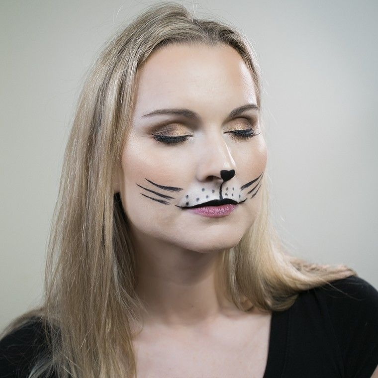 maquillage chat halloween femme maquillage idée