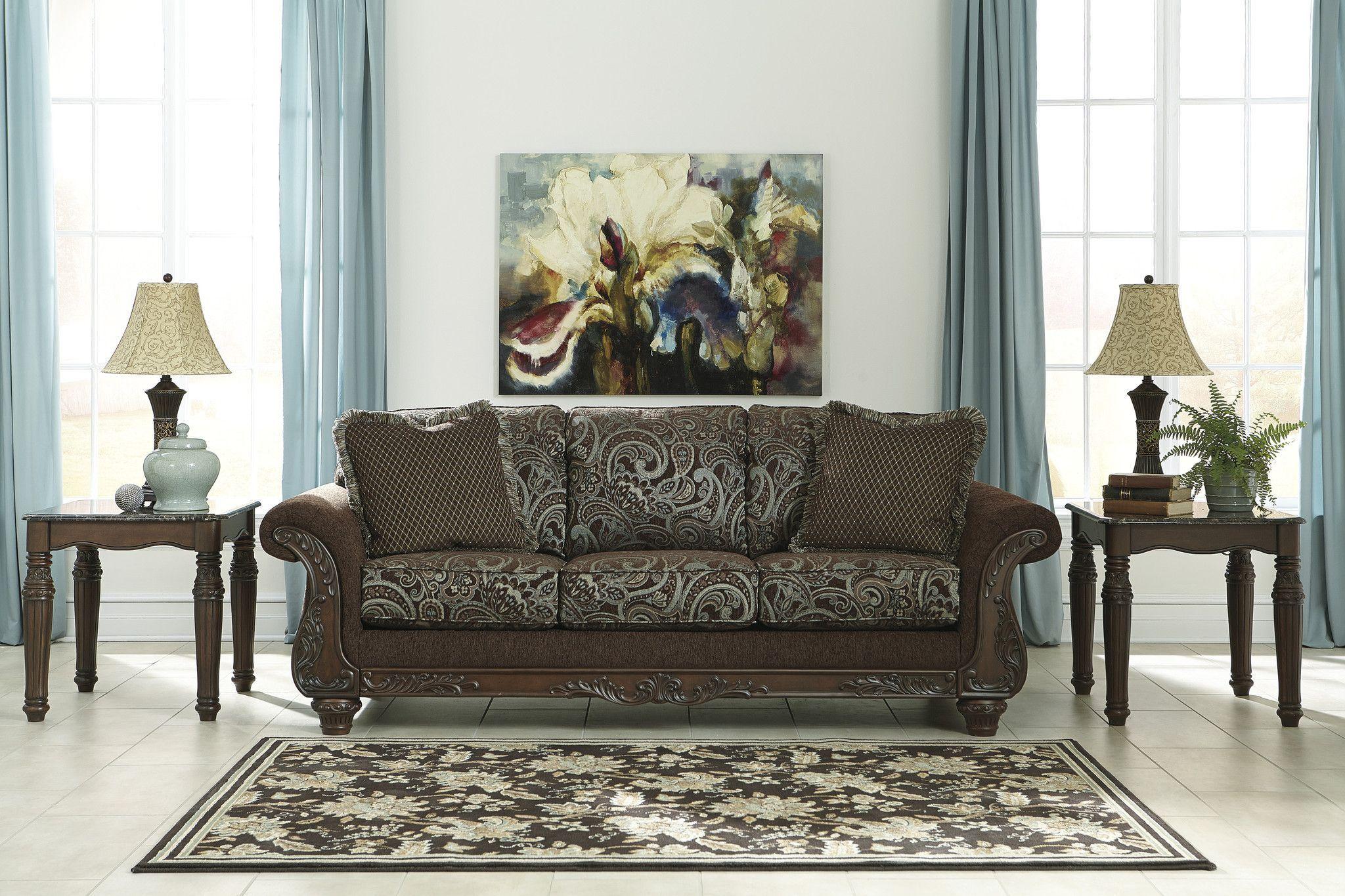 Grantswood Cocoa Living Room Set Adams Furniture
