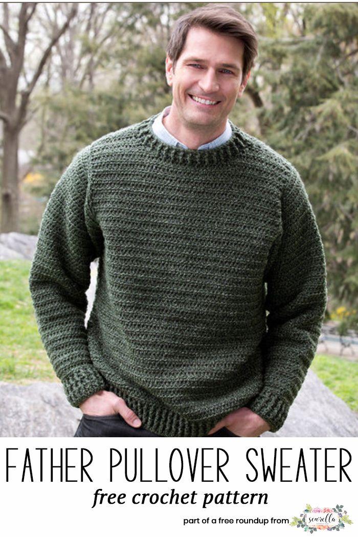 Husband-Approved Free Crochet Sweater Patterns | Tejido en agujas ...