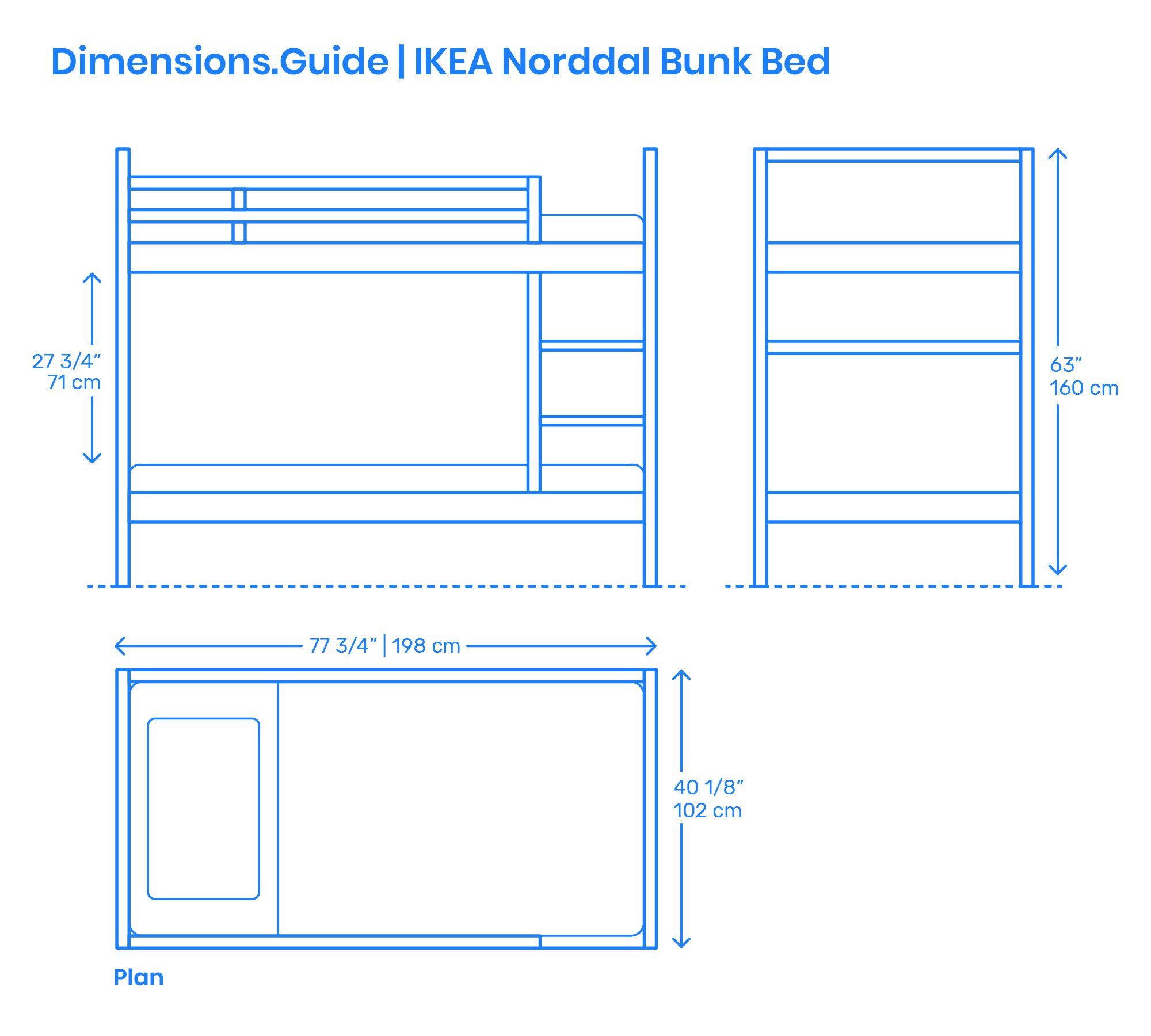 Ikea Norddal Bunk Bed Ikea Mydal Bunk Beds Bed Dimensions