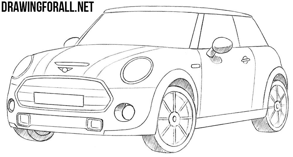 How To Draw A Mini Cooper Mini Cooper Car Drawings Cooper Car