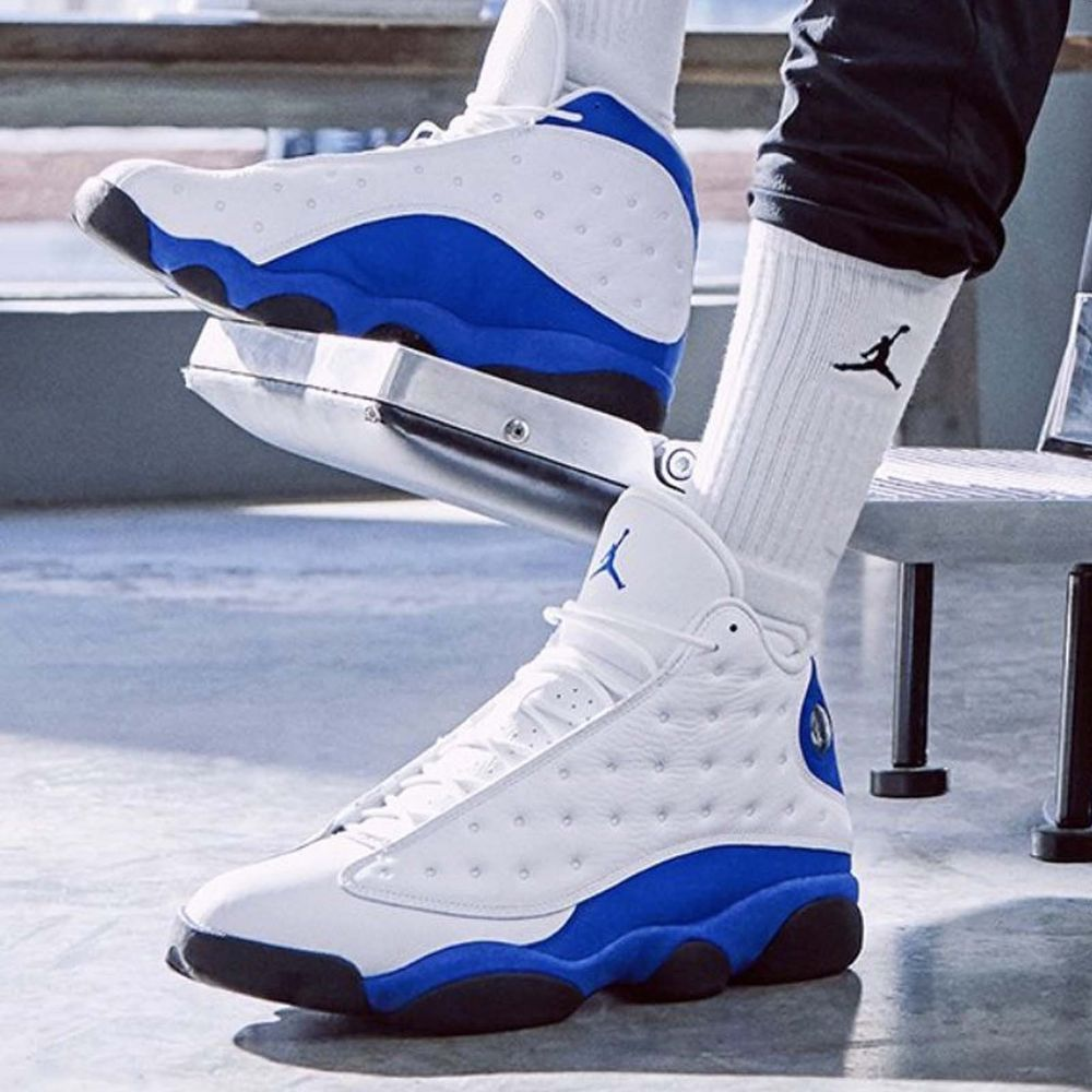 Nike Air Jordan 13 Retro Xiii Hyper Royal White Blue Mens Womens Sneakers Pick 1 Air Jordans Retro Jordans 13
