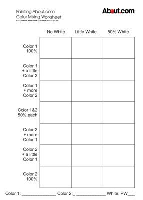 Art Worksheets Art worksheets, Art handouts, Color mixing
