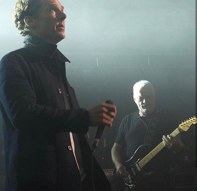 Benedict Singing Comfortably Numb With David Gilmour At The Royal