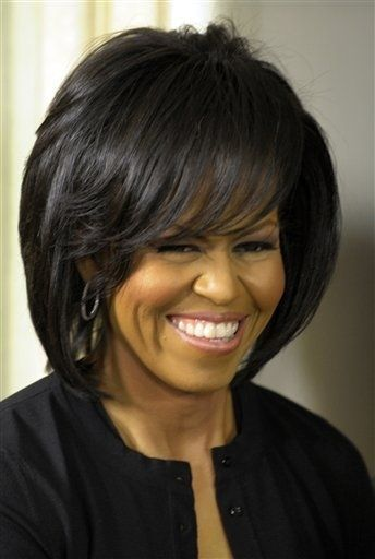Hairstyle File Michelle Obama S Versatile Bob Most Beautiful Black Women Michelle Obama Hair Styles