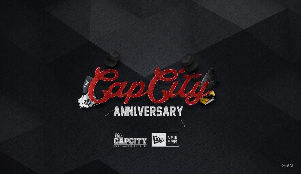 The cap city st anniversary by mustafid mustamam logo