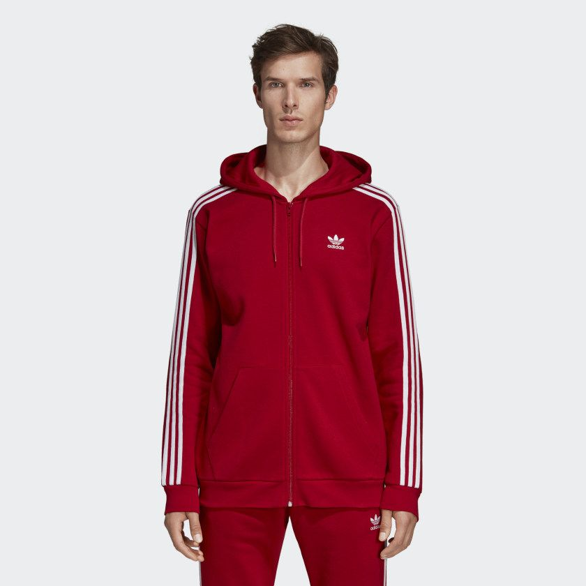 42dffc773 Mikina s kapucňou 3-Stripes Power Red DV1635 | adidas outfits in ...