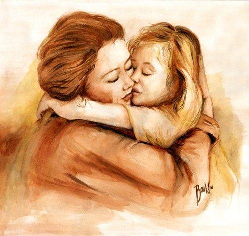 Mãe E Filha Desenho Pesquisa Google Madre Arte Pintura