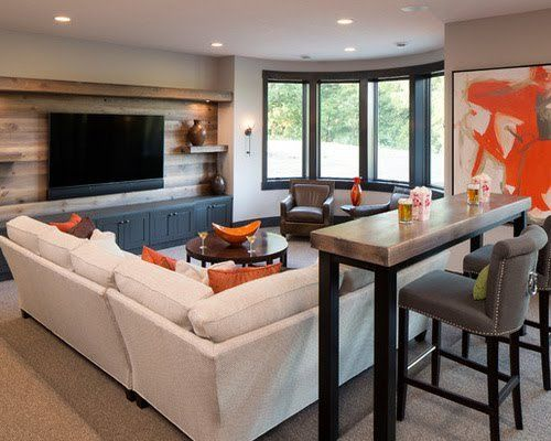 8 Of The Coolest Basement Hangouts · Basement RemodelingBasement IdeasTeen  ...