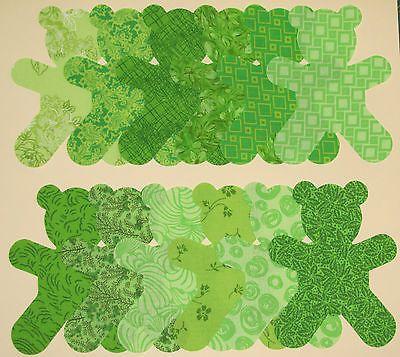 Die-Cut-APPLIQUE-Shapes-Lime-GREEN-TEDDY-BEAR-Die-Cut-Shapes-x-24