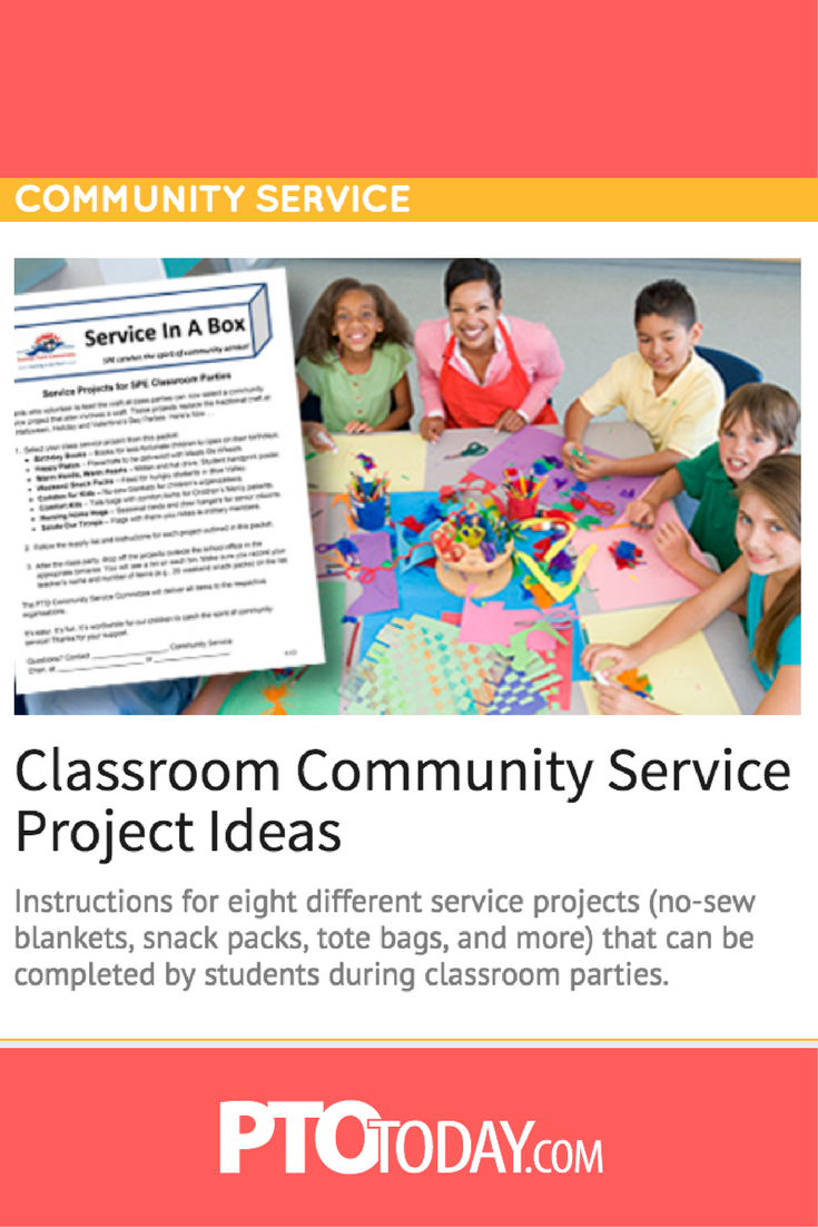 Get great community services ideas that also work as great classroom  projects.