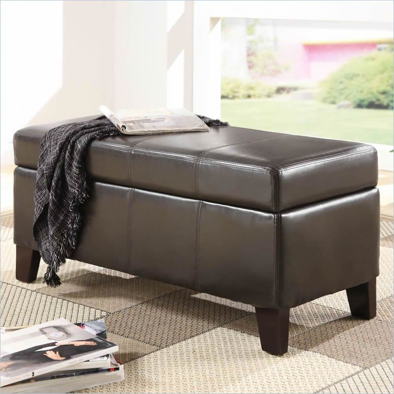 Modus Urban Seating Blanket Storage Bench In Chocolate Leatherette By Modus Furniture With Images Storage Bench Seating Leather Storage Bench Storage Bench