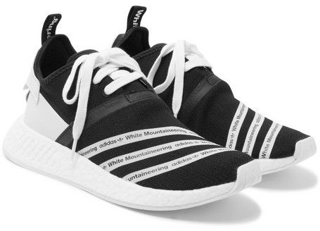 adidas originali + bianco alpinismo nmd r2 primeknit scarpe